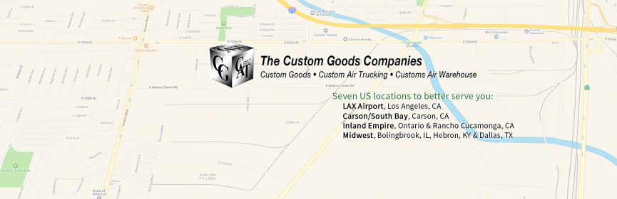 Custom Goods locations map